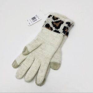 Coach Angora Blend Ocelot Touch Leopard Gloves